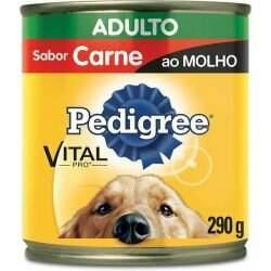 Alimento Úmido Pedigree Cães Adultos Carne ao Molho 290g Lata